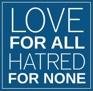 Love for all, hatred for non