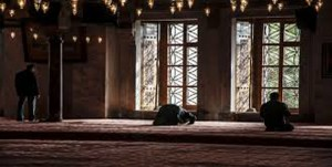 someone praying in the mosque