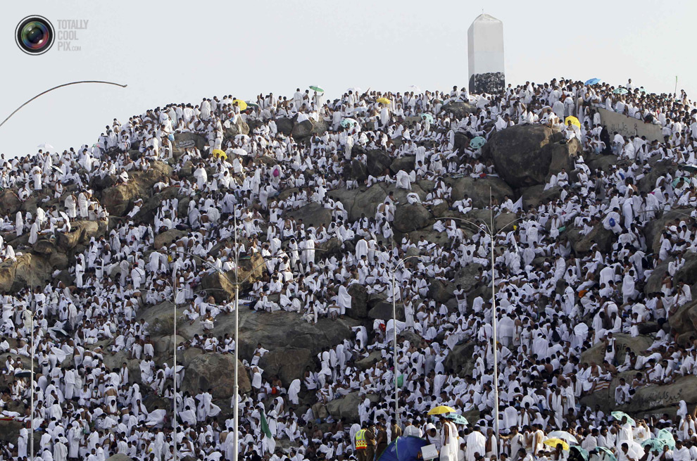 On no other day does the Satan feel so belittled, humiliated, and angry as he does on the Day of `Arafah.