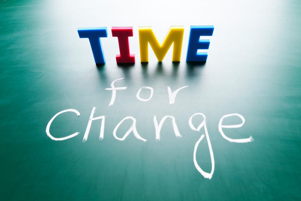 time for change written