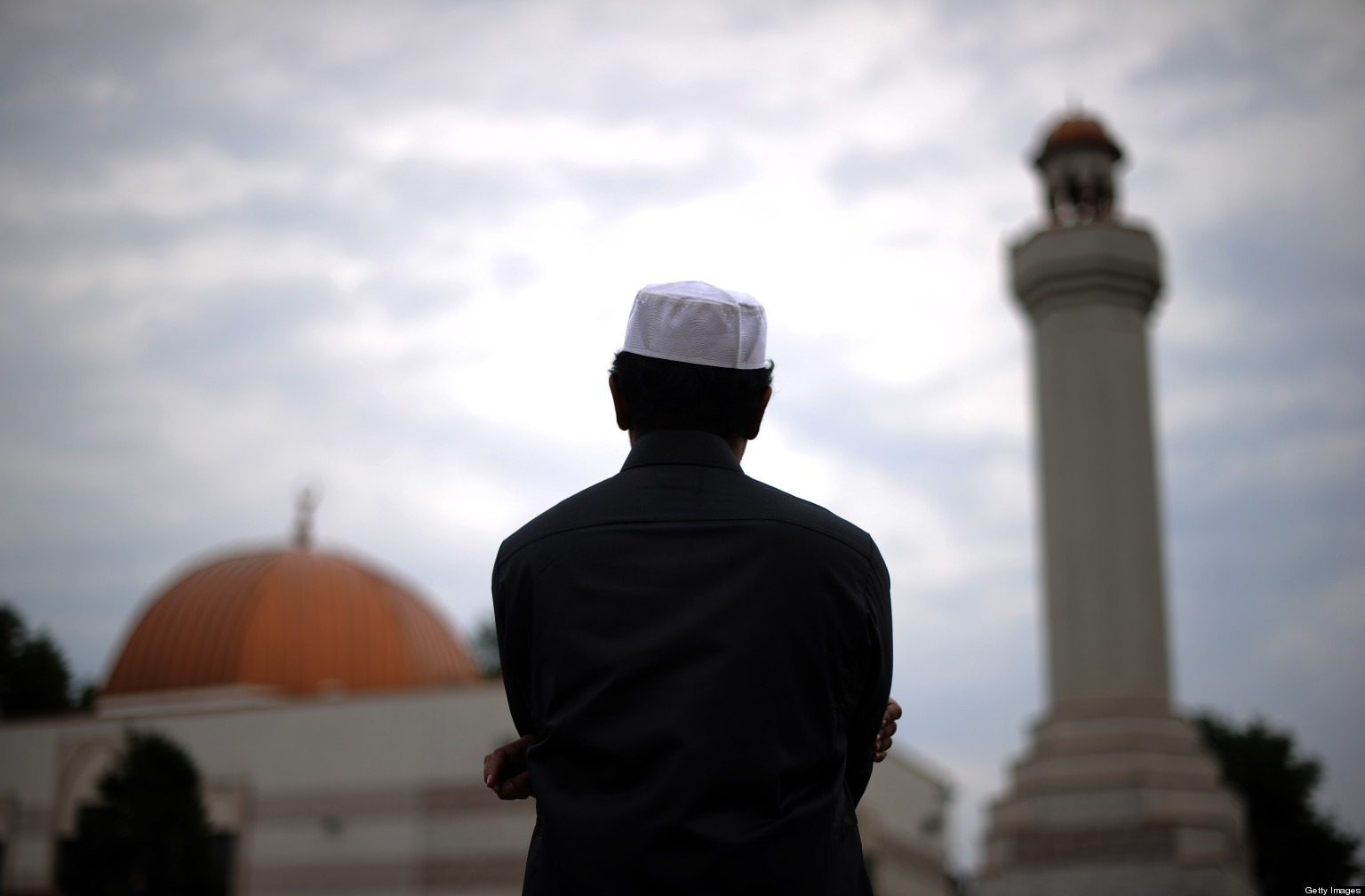 a muslim and mosque