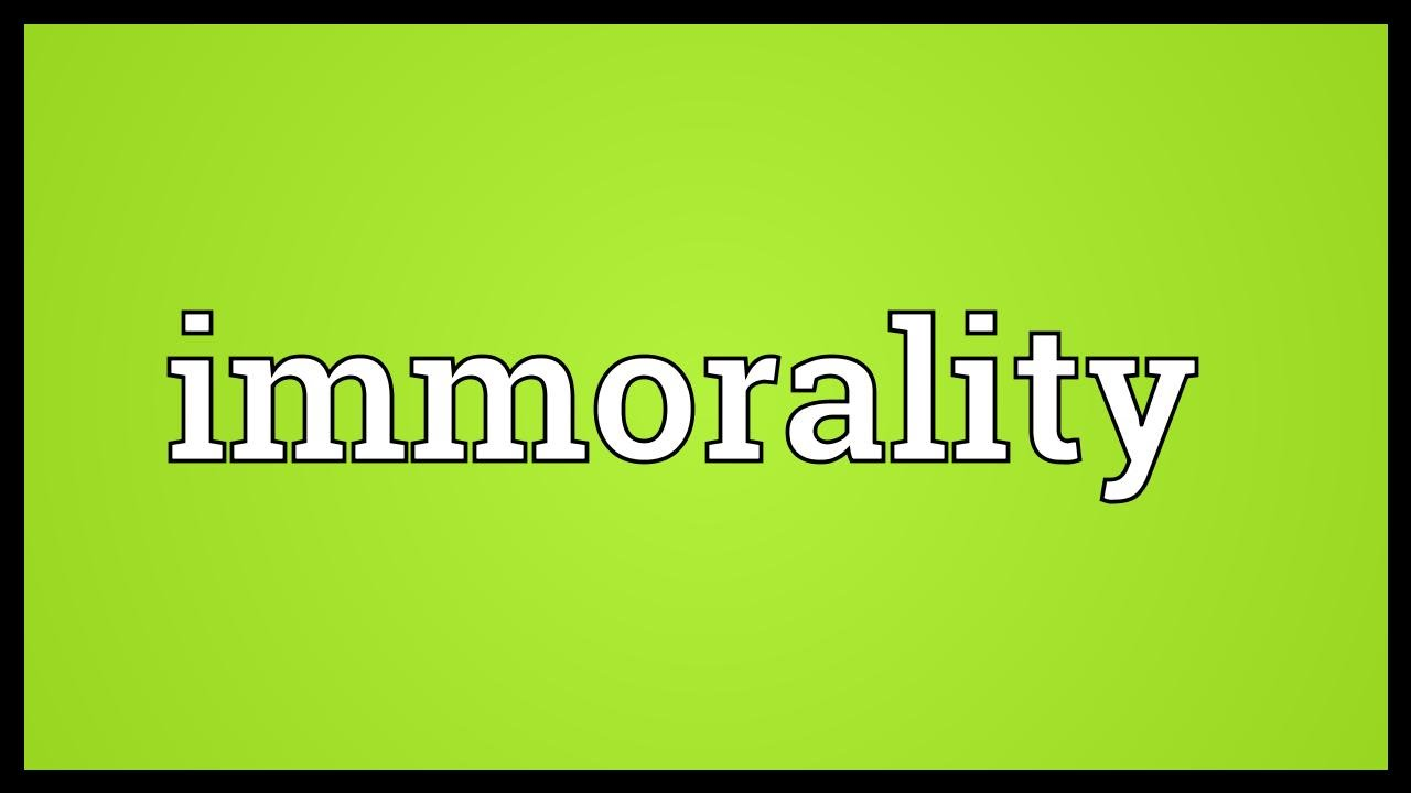 Sexually immoral def