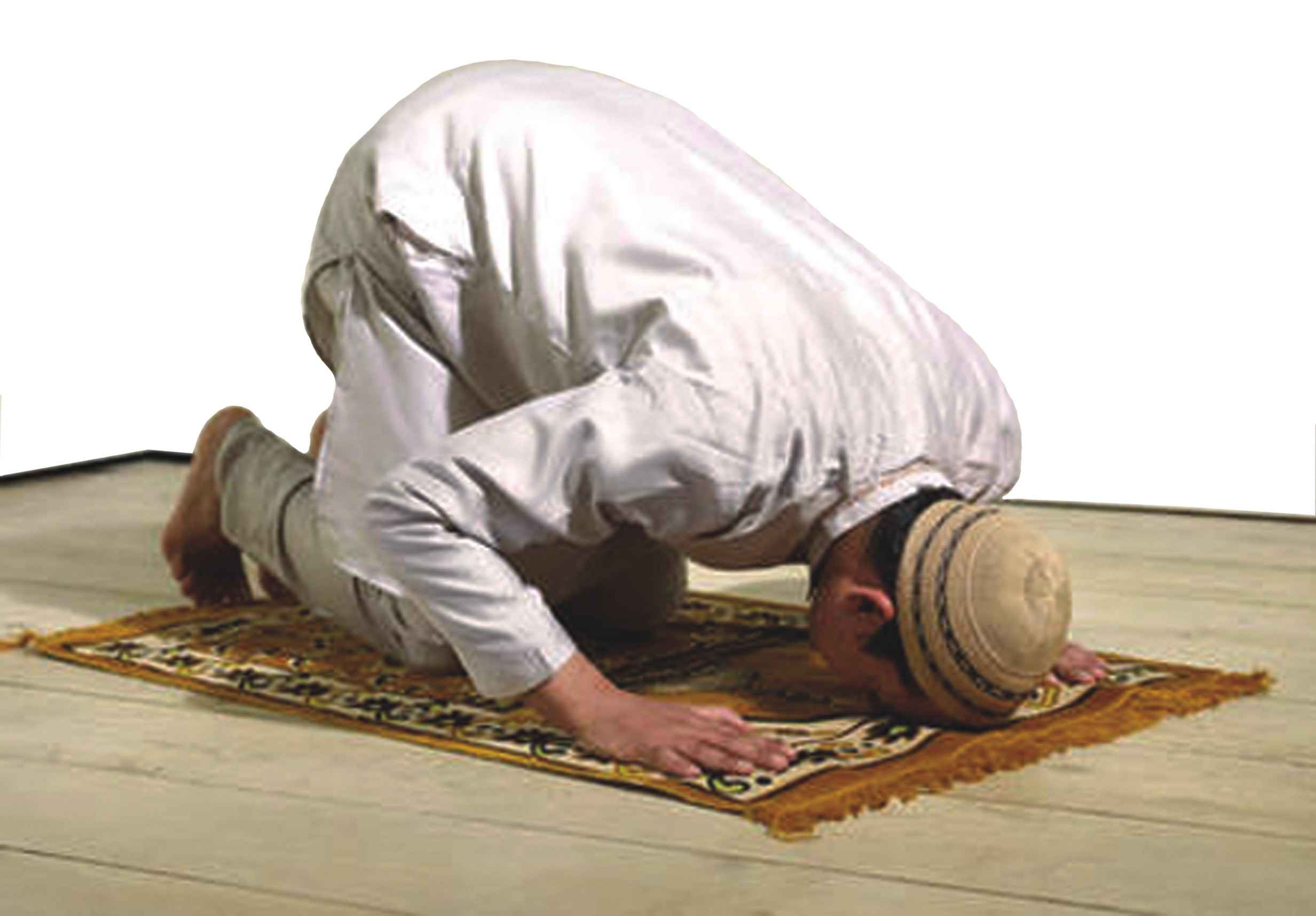 a boy offering prayer