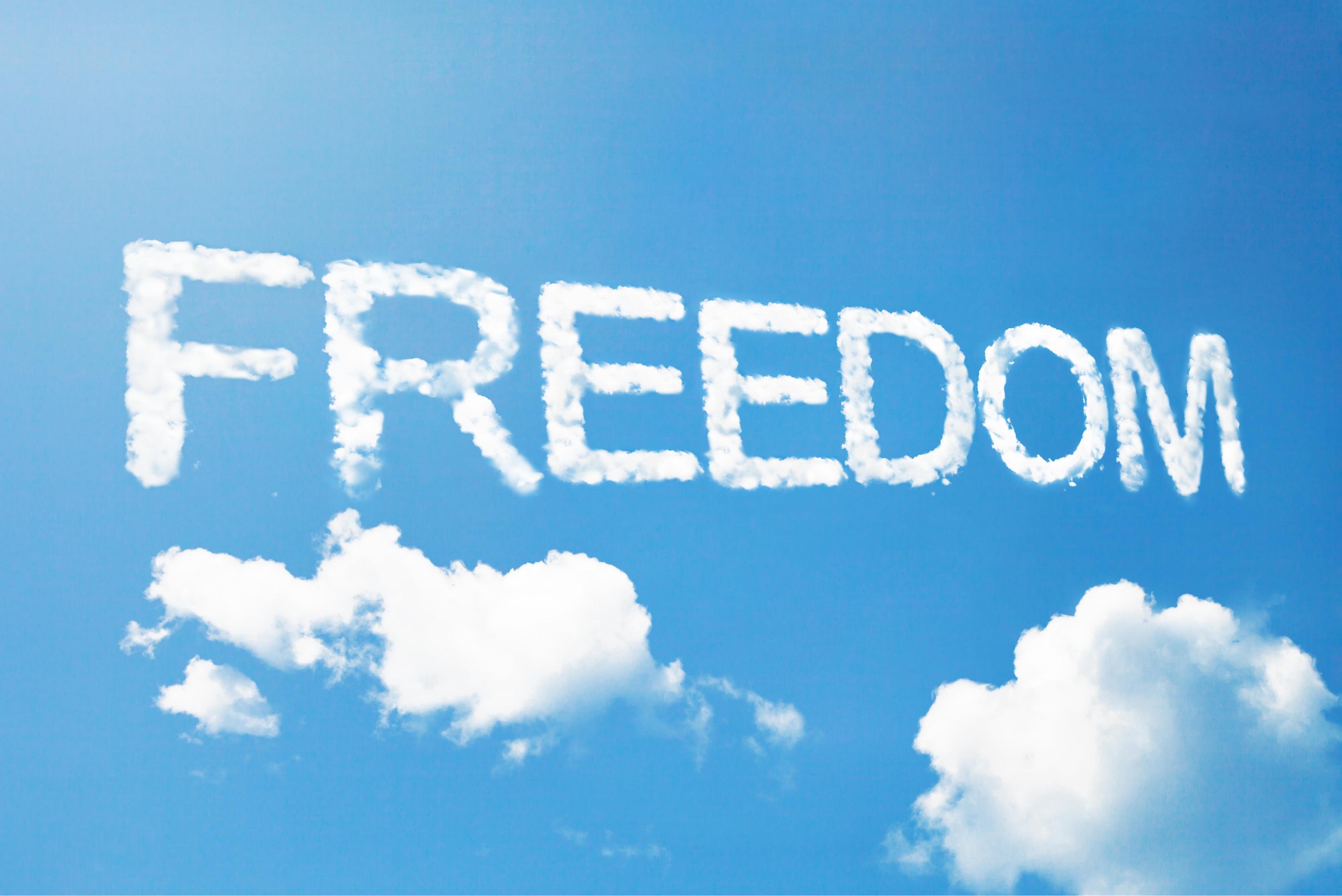 Freedom written in the sky
